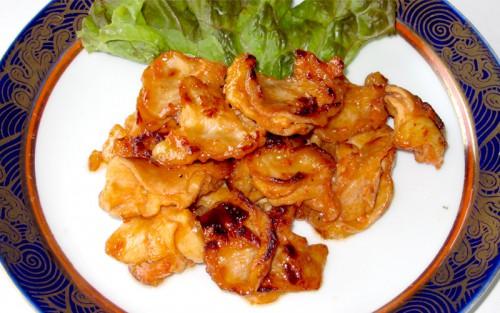 悠然鶏のハラミ焼き