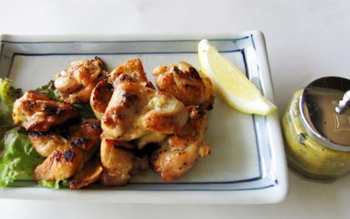 悠然鶏の塩焼き